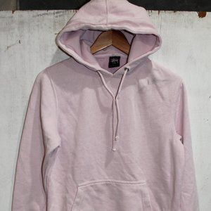 Stussy Pink Basic Oversize Pullover Hoodie Small